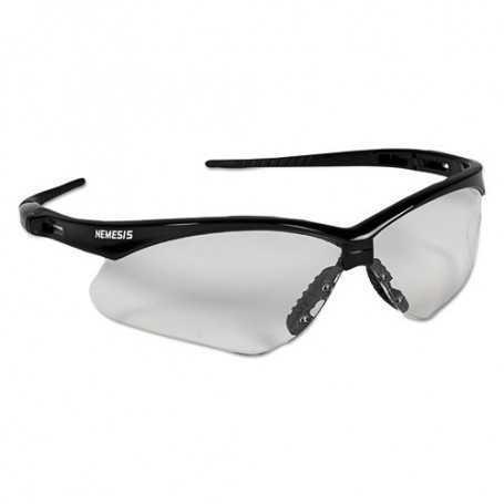 Kleenguard Nemesis Safety Glasses, Black Frame, Clear Lens
