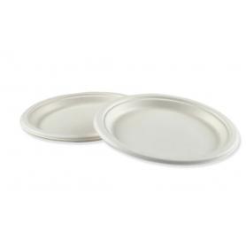 "Boardwalk Bagasse Molded Fiber Dinnerware, Plate, 9""D, 500/Carton"