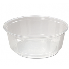 Fabri-Kal Microwavable Deli Containers, 8oz, Clear, 500/Carton