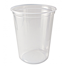 Fabri-Kal Microwavable Deli Containers, 32 oz, Clear, 500/Carton