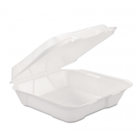 Gen Foam Hinged Carryout Container, 1-Comp, 9 1/4 X 9 1/4 X 3, 200/Carton