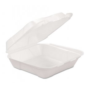 Gen Foam Hinged Container, 1-Comp, 8 X 8 1/4 X 3, 200/Carton