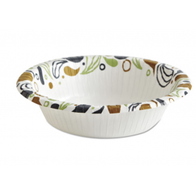 Boardwalk Deerfield Printed Paper Bowl, 12 oz, Coated/Soak Proof, 1000/Ct