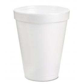 Dart Foam Drink Cups, 8oz, White, 1000/Carton