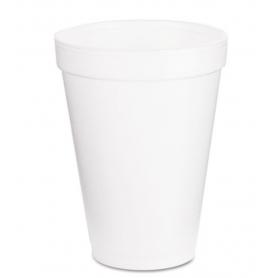 Dart Foam Drink Cups, 12oz, White, 1000/Carton