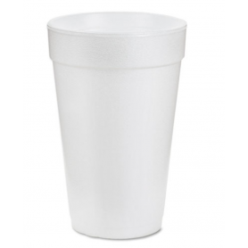 Dart Foam Drink Cups, 16oz, White, 1000/Carton