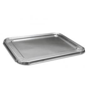 Boardwalk Half Size Aluminum Steam Table Pan Lid, Deep, 100/Carton
