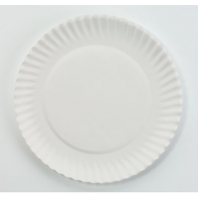 "AJM White Paper Plates, 6"" D, 1000/Carton"