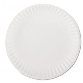 "AJM White Paper Plates, 9"" D, 1000/Carton"