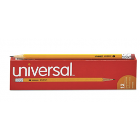 Universal Woodcase Pencil, HB #2, Yellow Barrel, Dozen