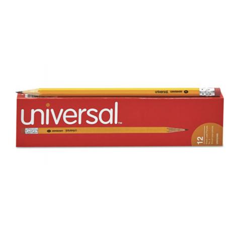 Universal Woodcase Pencil, HB #2, Yellow Barrel, Dozen