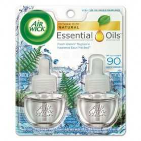 Air Wick Scented Oil Refill, Fresh Waters, 6 Pack/Carton