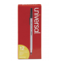 universal Stick Ballpoint Pen, Medium 1mm, Black Ink, Gray Barrel, Dozen