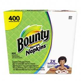 Bounty Quilted Napkins, 1-Ply, 12.2 x 12, White