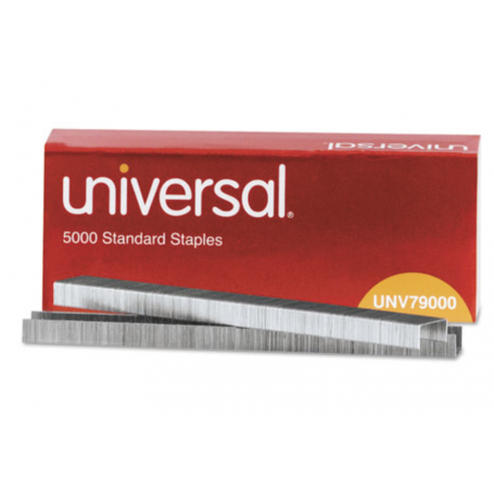 "universal Standard Chisel Point Staples, 0.25"" Leg, 0.5"" Crown, Steel, 5,000/Box"