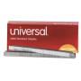"universal Standard Chisel Point Staples, 0.25"" Leg, 0.5"" Crown, Steel, 5,000/Box"
