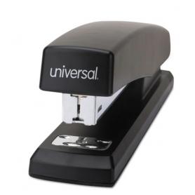 universal Economy Full-Strip Stapler, 20-Sheet Capacity, Black