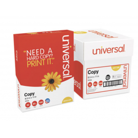 universal Copy Paper Convenience Carton, 92 Bright, 20lb, 8.5 x 11, White, 5/Carton