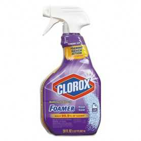 Clorox Bleach Foamer Bathroom Spray, 30oz Spray Bottle