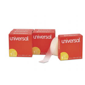 """universal Invisible Tape, 3/4"""" x 1000"""", 1"""" Core, Clear, 6/Pack"""