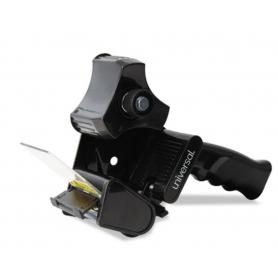 "universal Handheld Box Sealing Tape Dispenser, 3"" Core, Metal/Plastic, Black"