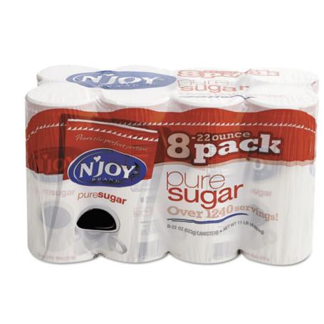 N'JOY Pure Sugar Cane, 22 oz Canisters, 8 per Carton