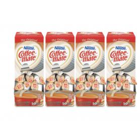 Nestle Coffee-mate Liquid Coffee Creamer, Original, 0.38 oz Mini Cups, 50/Box, 4 Boxes/Carton, 200 Total/Carton