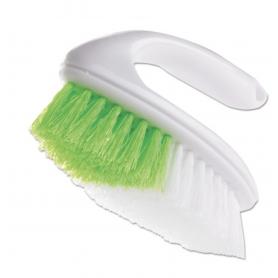 "Butler Iron Handle Brush, 5 3/4"" Brush, 1 1/4"" Bristles, White/Green"