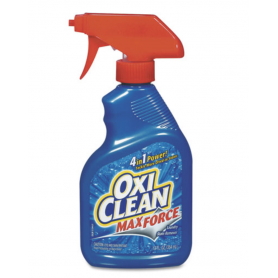 OxiClean Max Force Stain Remover, 12oz Spray Bottle, 12/Carton