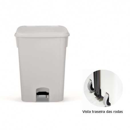 WASTE BIN WITH PEDAL - WHITE