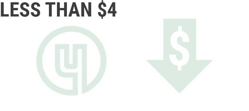 Less than $4