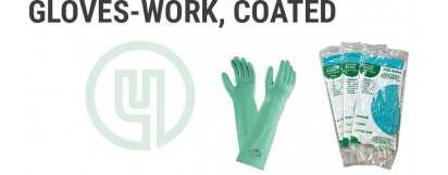 Gloves-Work, Coated